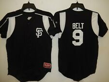 0213 Boys Youth San Francisco Giants BRANDON BELT Full Button Baseball JERSEY