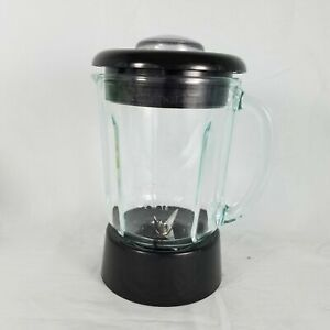 Cuisinart 48 oz Glass Pitcher Blender Jar with Lid and Blade Black Round 6 Cup