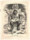 1930 Communism on Throne No Other God But Me Political Cartoon Punch Magazine 4P