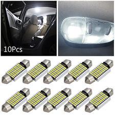 10Pcs 36MM 27SMD 3014 Canbus White LED Car Festoon Bulb Lamp Dome Interior Light
