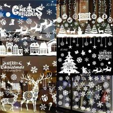 Weihnachten Fenstersticker Dekor Fensteraufkleber Fensterbilder Schneemann DE