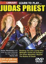 Lick Library: aprende a tocar Judas Priest Guitarra 2 X DVD (región 0) instrumental