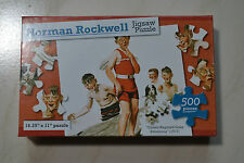 """Norman Rockwell 500 pc puzzle """"Cousin Reginald goes swimming"""" 1917"""