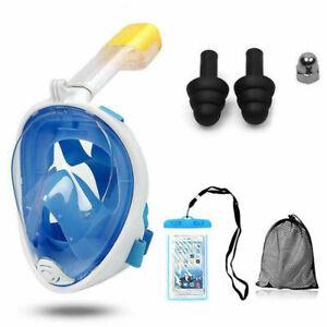Schnorchelmaske Tauchmaske Taucherbrille 180° Snorkel Vollgesichtsmaske Maske