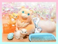 ❤️Vtg Li'l Lil Litters My Little Kitty Pony MLP CUTIE CALICO Cat Mommy Baby❤️