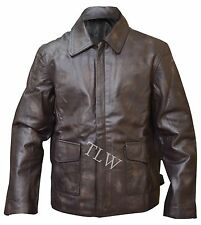 Harrison Ford Indiana Jones Leather Jacket BROWN Genuine - Distressed COW Hide