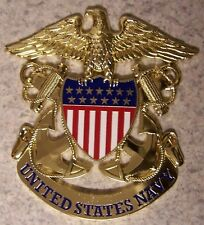 Military Plaque U S Navy metal NEW wall or shadow box mount