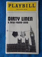 Dirty Linen & New-Found-Land - John Golden Theatre Playbill - January 1977