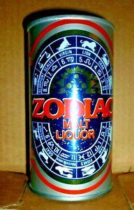 Collectable beer cans - Zodiac Malt Liquor 12 fl oz s.steel can (USA)