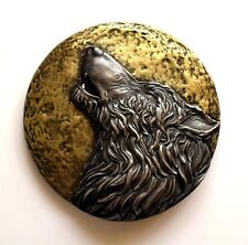 Viking  Fenrir Norse Wolf Howling Brass Iron Sculpture Wall Mount Art Decor Gift