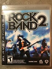 Rock Band 2 (Sony PlayStation 3, 2008) PS3 With Instruction Manual