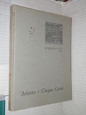 CINQUE CANTI Ludovico Ariosto Luigi Firpo UTET 1964 libro narrativa letteratura