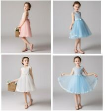 Flower Girl Party Princess Dress Kids Lace Performance Skirts Dancewear Costume