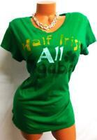 "Wound up green women's plus size ""half irish all trouble"" clover t-shirt top XXL"