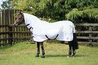 Masta avante waterproof fly rug mesh combo horse rug fixed neck lightweight