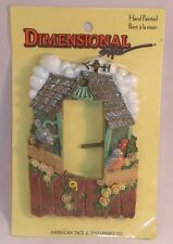 New Dimensional Hand Painted Wall Switch Plate Country Cottage Bird House Flower