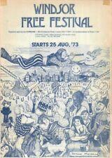 WINDSOR FREE FESTIVAL 1973 ADVERTISING FLYER