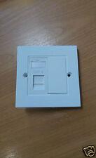 1 Port Cat 6 RJ45 Network Faceplate LAN Patch Double Socket Module UK not cat5e