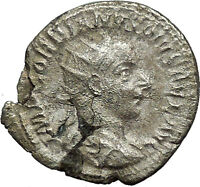 GORDIAN III w globe & spear 240AD Authentic Ancient Silver Roman Coin i34040