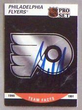 Craig Berube Philadelphia Flyers 1990-91 Pro Set ProSet Signed Card