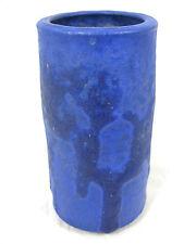 """Beautiful  WG Hoy Keramik pottery vase with stunning blue """" Lava """" glaze 14 cm"""