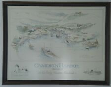 Original painting 20X26 signed  by author  DOUGLAS ALVORD Title CAMDEN HARBOR