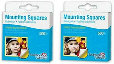Scrapbook Adhesives *1000 Repositional Mounting Squares* 2 Boxes of 500 , 266126