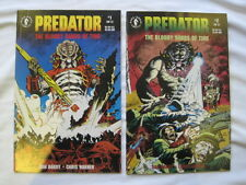 """PREDATOR : """"BLOODY SANDS of TIME"""" complete 2 issue series by Barry & Warner.1992"""