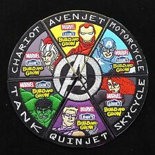 Complete Set Of 6 Marvel Avengers Assemble Lowe's Build & Grow Iron On Patches