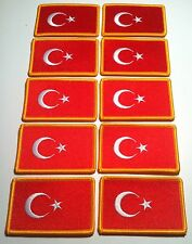 10 TURKEY Flag Patch with VELCRO® brand fastener  Military EUROPE Emblem #6