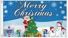 Christmas North Pole Santa Claus and Christmas Tree 5'x3' Flag
