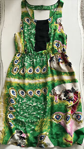 Anthropologie Moulinette Soeurs Panoply Carousel Horse Silk Dress Sz 8 SILK