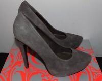 KELSI DAGGER NEW Brette Gray Suede Pointed Toe Hidden Platform Pumps Shoes sz 9