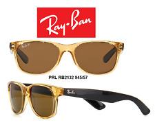 Ray-Ban Sunglasses RB2132 945/57 New Wayfarer Honey w/Brown Polarized Lens