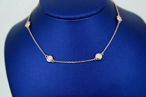 """14k Rose Gold Ladies 1.85 CT Diamond By The Yard Necklace, 4.9gm, 18"""",S105041"""