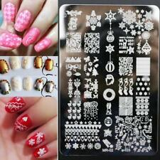 Nail Art Stamping Plates Image Plate CHRISTMAS Reindeer Snowflakes Easter (MR02)