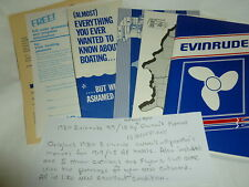 Vintage 40 Page Evinrude 1980 Owner's Manual & 5 Owners Pamphlets Lot Y-859