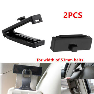 2x Car SUV Seat Belt Adjusting Tension Clips ABS for Width of 53mm Fasten Buckle