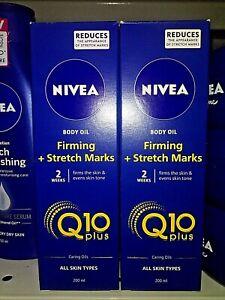 NIVEA Body Oil Firming & Stretch Mark Treatment Q10 Plus 200 mL