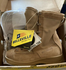 Belleville Men's Tan Hot Weather, Steel Toe Flight Boot 330DESST Size 9 W New