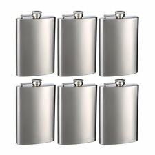 Wedding supplies ebay engraved set of six 8oz stainless steel groomsman flasks personalized junglespirit Choice Image