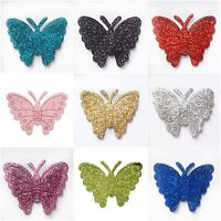 Glitter Butterflies Self Adhesive Stick On Craft Stickers 12pcs Club Green