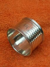 More details for antique sterling silver hallmarked napkin ring 1921 e s barnsley & co