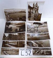 VTG 1936-37 10CT PICTORIAL NAPOLI UNPOSTED POSTCARDS LOT -L32