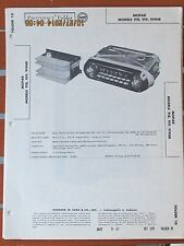 MOPAR OEM 1957 Dodge Motorola Model 918 919 919HR Radio Photofact Folder
