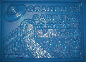 LARGE RECTANGLE WITH GRANDMA'S GARDEN CHOCOLATE MOULD OR PLASTER MOULD