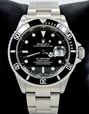 ROLEX Submariner 16610 Oyster Date SS Black Dial Men's Watch *MINT* SERVICED