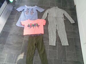 girls river island clothes bundle 7-8 yrs-dress,long sleeve jumpsuit,leggings+to