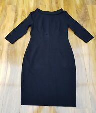 BODEN LADIES GORGEOUS Marisa Black cotton blend Dress. Size UK 14P.