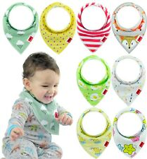 Baby Bandanna Unisex Bibs Feeding Saliva Towel Dribble Triangle Pack of 8